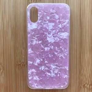 NEW Iphone X Pink Shiny Sparkle Case